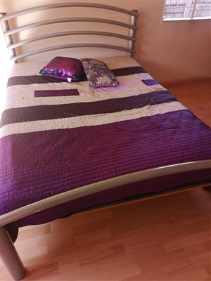 Stainless steel bed and mattress for sale