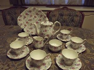 Royal Albert Minuet 17 piece coffee set Bargain at R 2500 includes the large cake plate