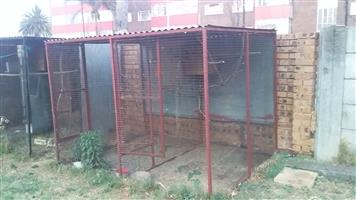 2x 2.4m longx1.8m broadx 1.67m heigh double breeding bird cages for 1000 each