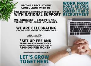 Become a recruitment Consultant with us