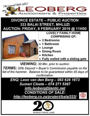 3 Bedroom Home on Auction - Mhluzi, Middelburg, Mpumalanga