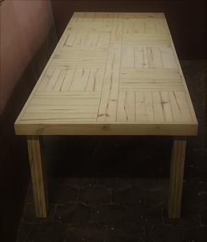 Patio table Farmhouse series 2950 with 6 legs Raw