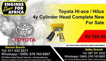 Toyota Hi-ace / Hilux 4y Cylinder Head Complete New For Sale