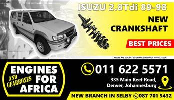 New Isuzu KB 2.8 Tdi Crankshaft FOR SALE