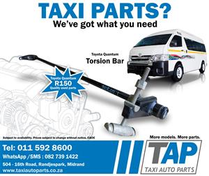 Toyota Quantum TORSION BAR - Taxi Auto Parts for quality used Taxi spares -TAP
