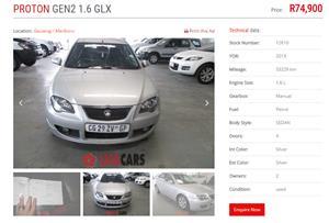 2013 Proton Gen.2 1.6 GLX