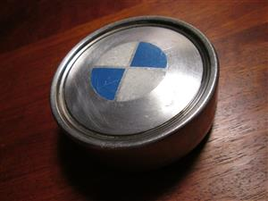 1x BMW metal wheel cap, centre cap, older/classic models, 75-80 mm diameter, used
