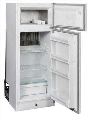 ZERRO 230LTR GAS & ELECTRIC FRIDGE/FREEZER - BRAND NEW - Shop Soiled - 1 year Guarantee