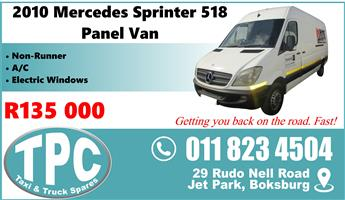 2010 Mercedes Sprinter 518 Panel Van - Good Condition - Visit TPC Rebuild Yard.