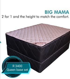 Base and mattress sets