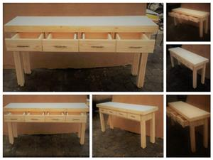 Dresser Farmhouse series 1800 with 4 drawers Raw