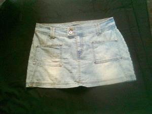 Light denim mini skirt for sale