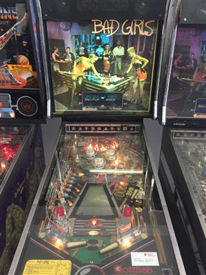 Pinball Machine Bad Girls by Gottlieb