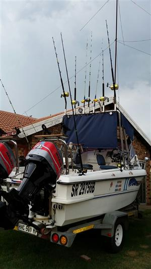19 feet 585 persuit cat boat for sale