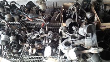 Pistons and conrods for sale.