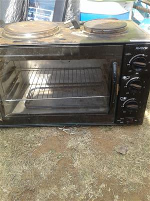 2 plate stove oven