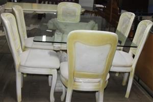 S033691A 7 Piece dining room set #Rosettenvillepawnshop