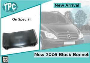 Mercedes Benz Vito New 2003 Black Bonnet