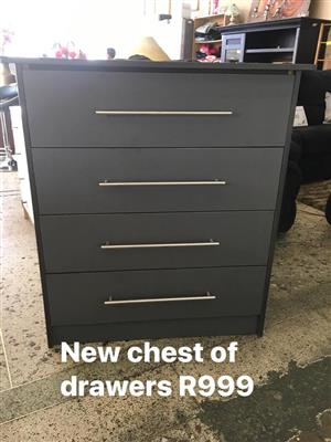 New black chest of drawers