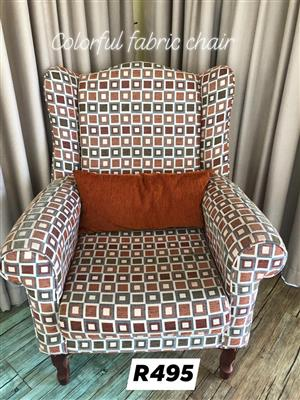 Colorful fabric chair for sale