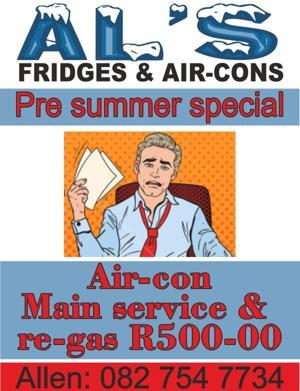 Fridge, freezer and air conditioner repair