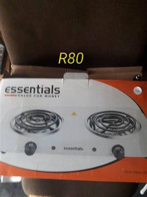 Essentials 2 plate stove