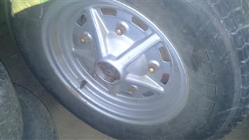 """14"""" Rostyle Beetle Rims And Exhaust"""