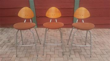 Bar chairs. (3)