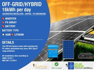 Off-Grid 16kWh per day – Victron Energy