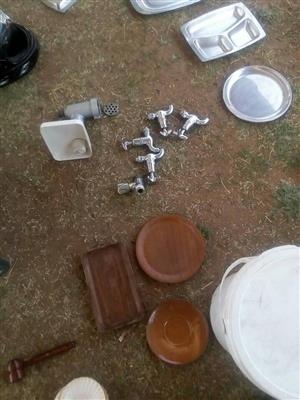 Faucets,plates and trays