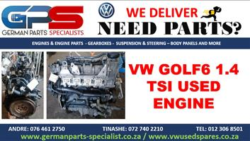 VW GOLF6 1.4 TSI USED REPLACEMENT ENGINE