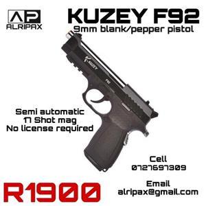 Self-defence blank/pepper pistol