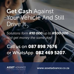 Get Cash Against Your Vehicle And Still Drive It
