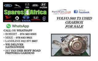 VOLVO S60 T3 USED GEARBOX