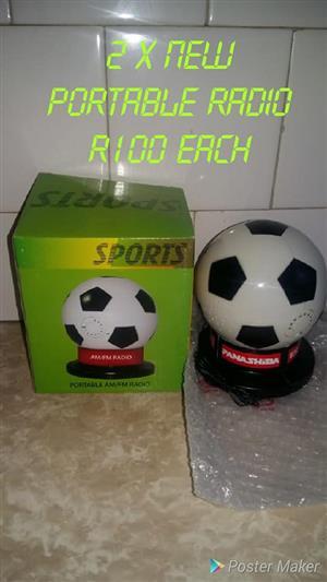 Soccer portable radio's