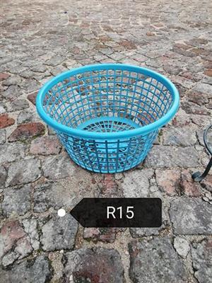 Blue mini laundry basket for sale