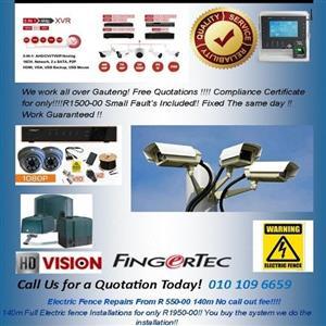 Electric Fencing and repair /  Security Camera / Gate Motors