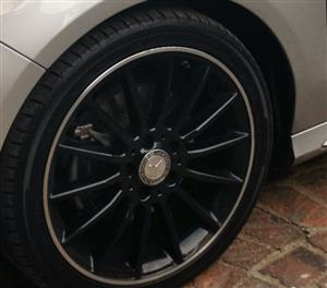 """Mercedes 18""""mags & tyres"""