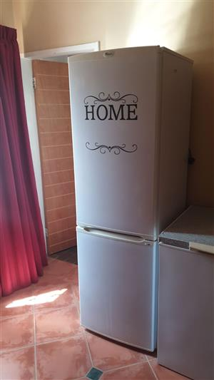 As new 343L Fridge freezer. Can be transported to Pretoria or Bloemfontein. 0788204283
