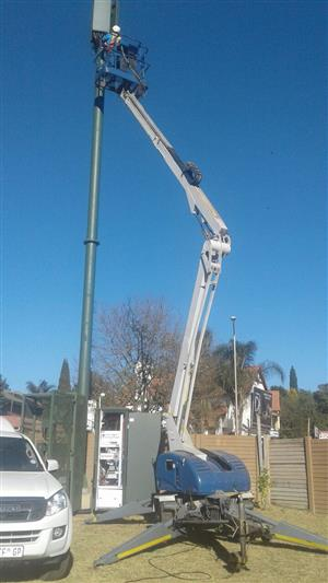 VerticalZA CHERRY PICKER Nifty T150 -15m, Portable Trailer Mounted Manlift