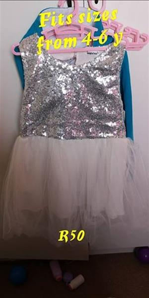 White and silver bling tutu