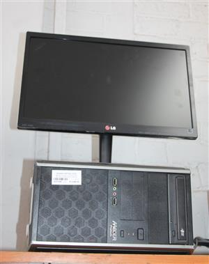 Mecer pc with Lg monitor, mouse, Keyboard and cables S032189B #Rosettenvillepawnshop