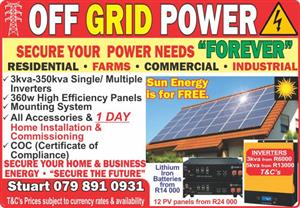 Solar PV Installations Secure your own Power Forever