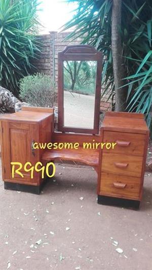 Vintage single mirror dresser for sale