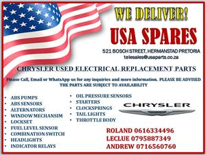 CHRYSLER USED ELECTRICAL REPLACEMENT PARTS (FOR SALE)