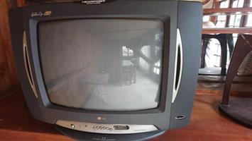LG Golden eye TV on swivel base