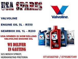 JEEP, DODGE AND CHRYSLER VALVOLINE ENGINE AND GEARBOX OIL NOW AVAILABLE AT USA SPARES