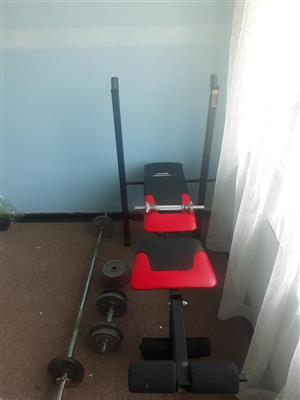 Red and black trojan bench for sale