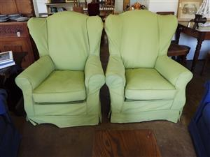 Classic wingback armchairs