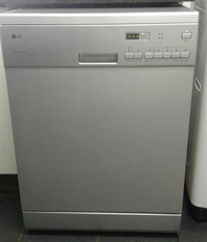 LG silver dishwasher